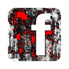 grunge fb icon red splashed