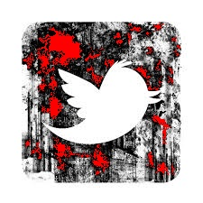 twitter grunge icon red splashed